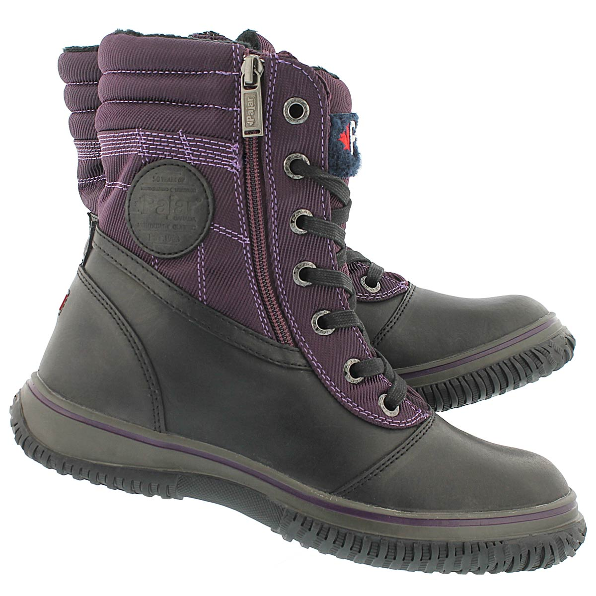 Lds Leslie blk/purple wtpf winter boot