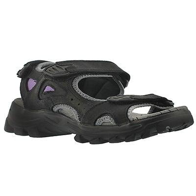 Lds Lexi black/grey sport sandal