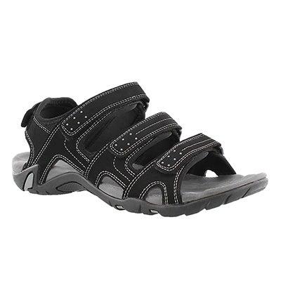 Mns Lexington black 4 strap sport sandal