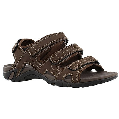 SoftMoc Men's LEXINGTON brown 4 strap sport sandals