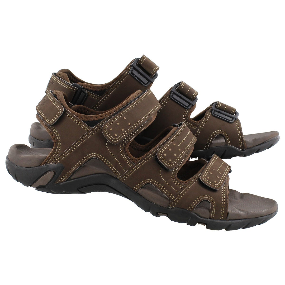 Mns Lexington brown 4 strap sport sandal