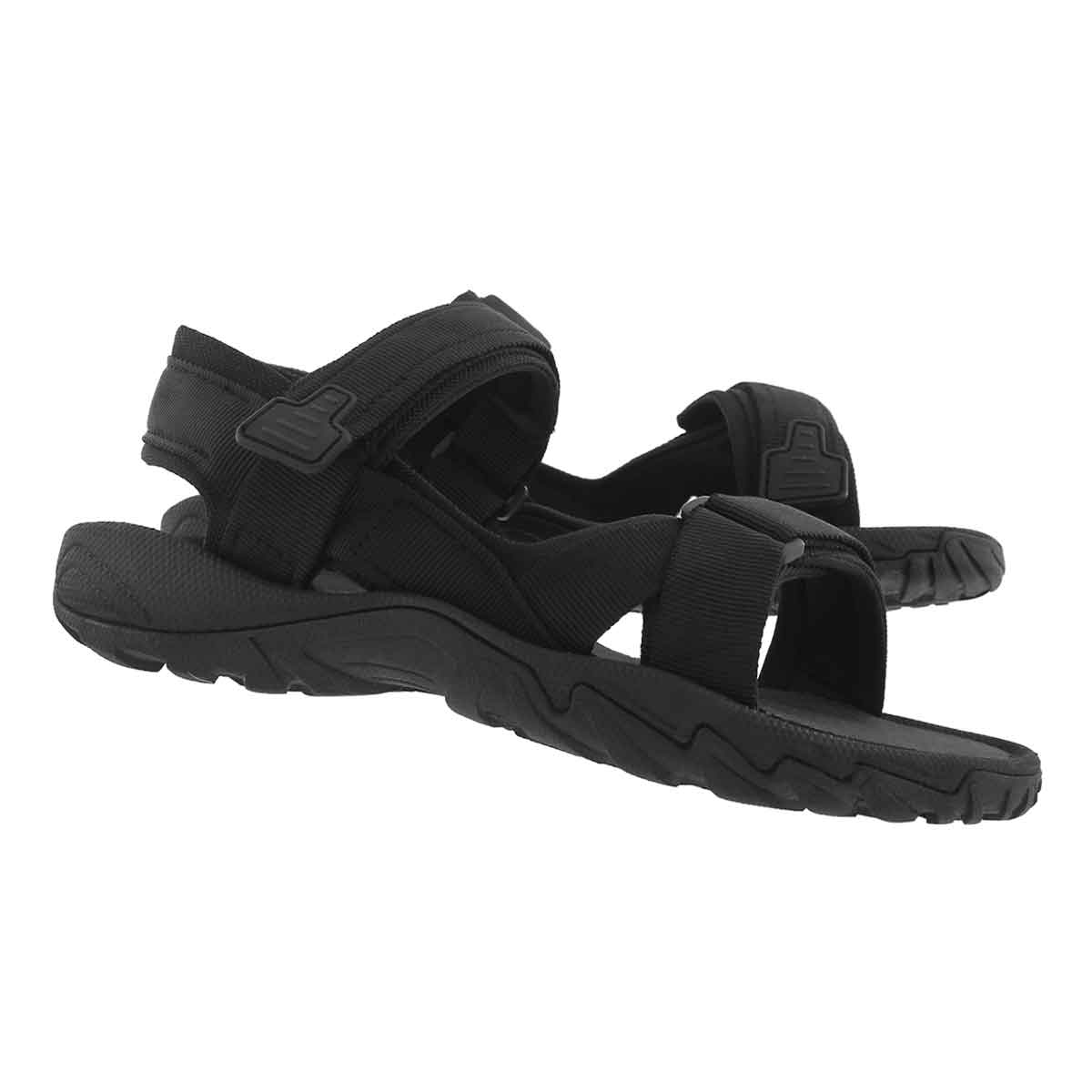 Mns Liam black 3 strap sport sandal