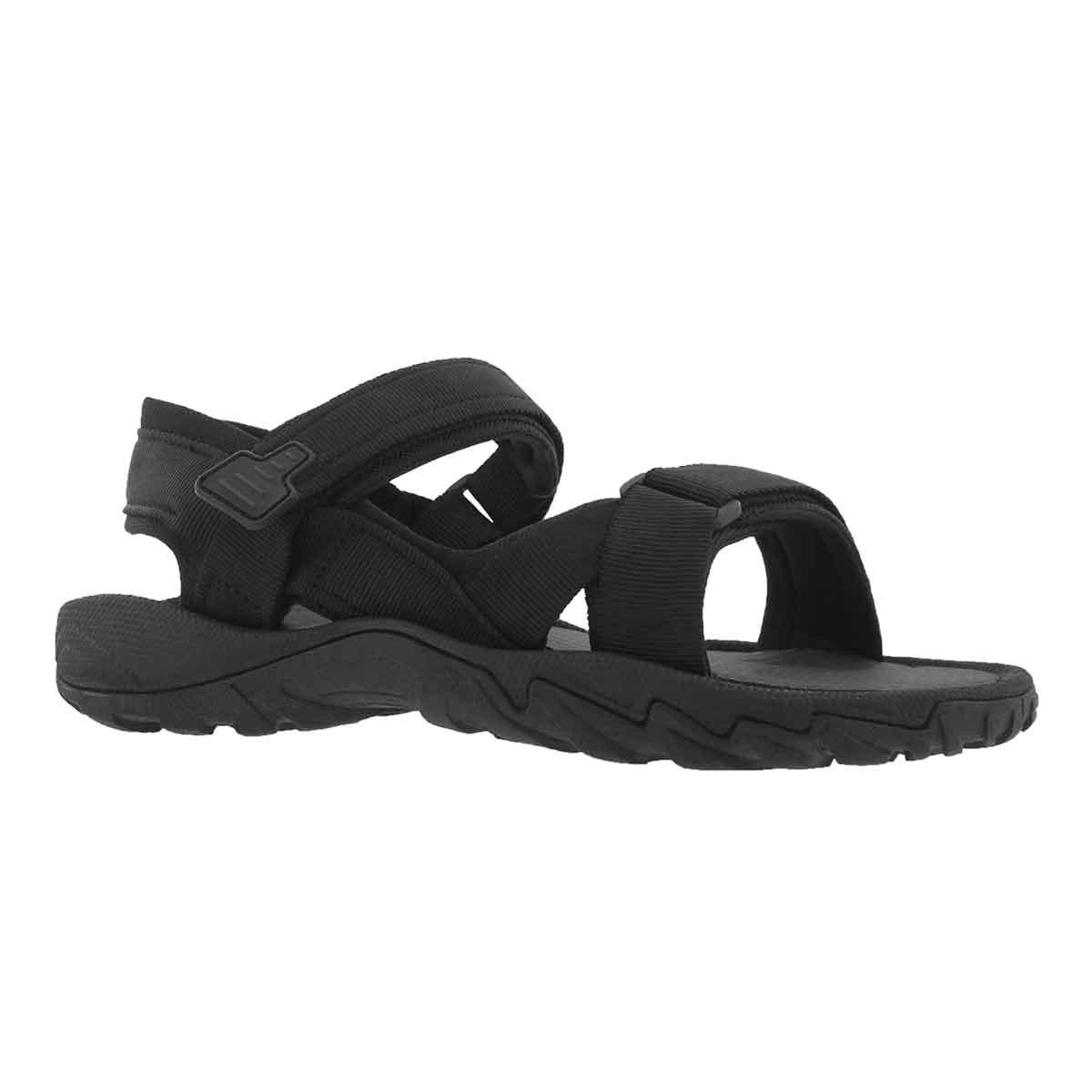 Men's LIAM black 3 strap sport sandals