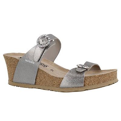 Lds Lidia silver crk footbed wdg sandal