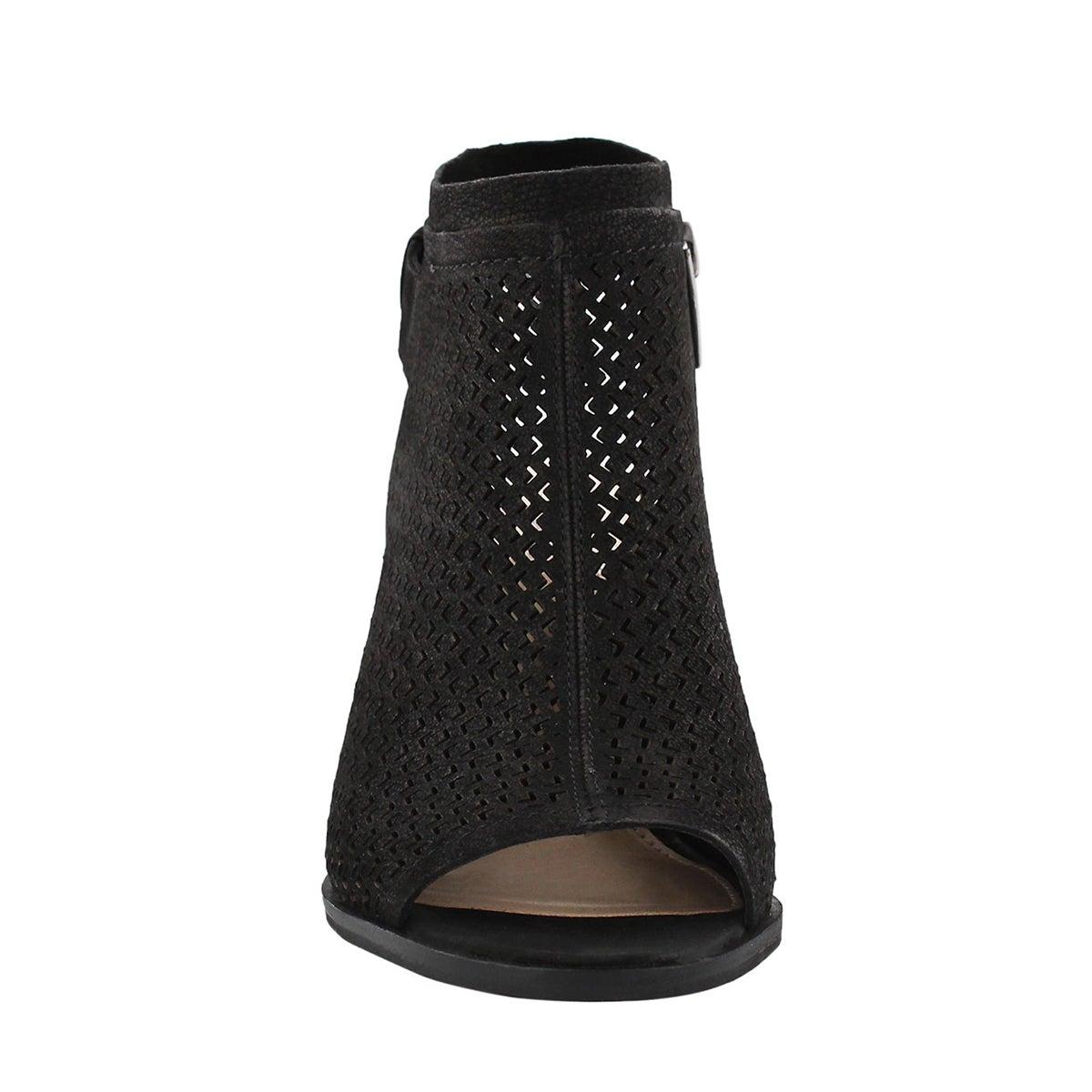 Lds Lidie black peep toe dress sandal