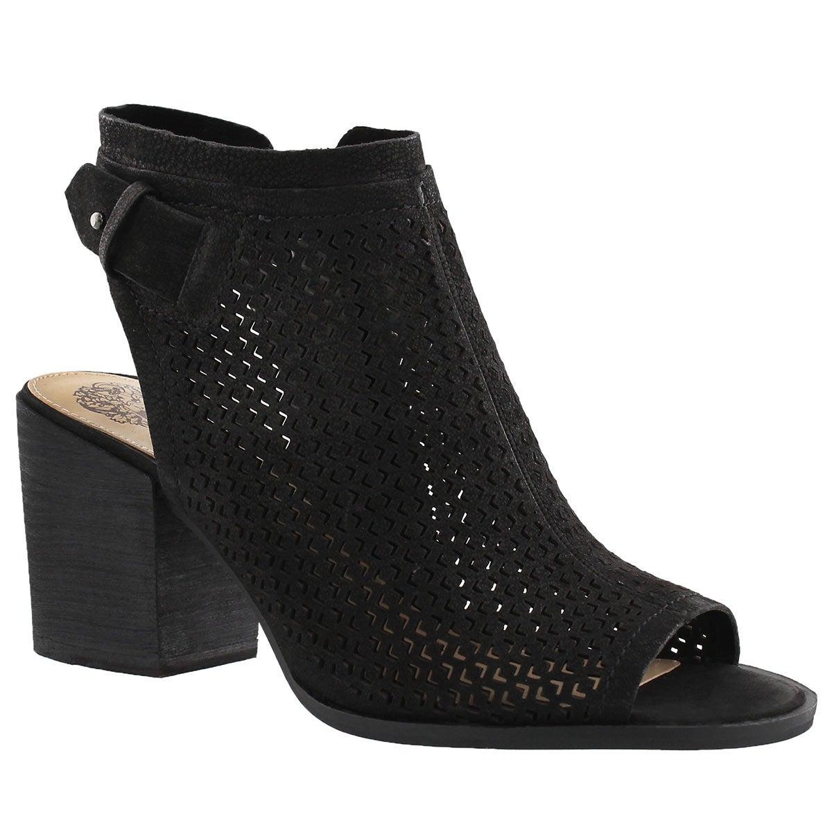 Women's LIDIE black peep toe dress sandals