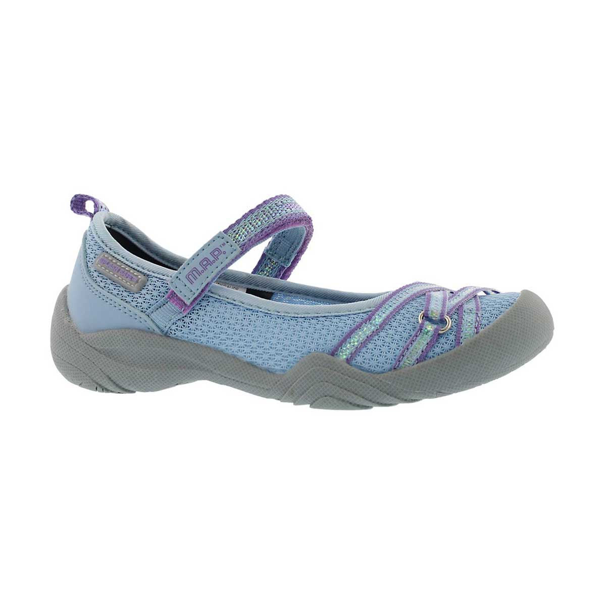 Girls' LILITH perwinkle/purple Mary Janes