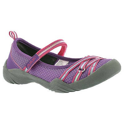 MAP Girls' LILITH 3 purple maryjanes shoes