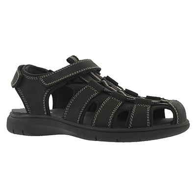 Mns Linus black fisherman sandal