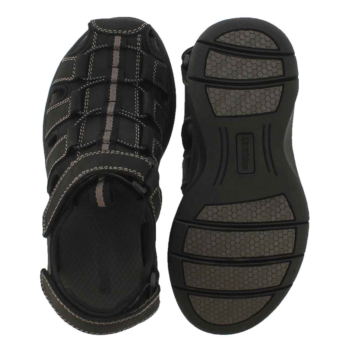 Mns Linus black fisherman sandal