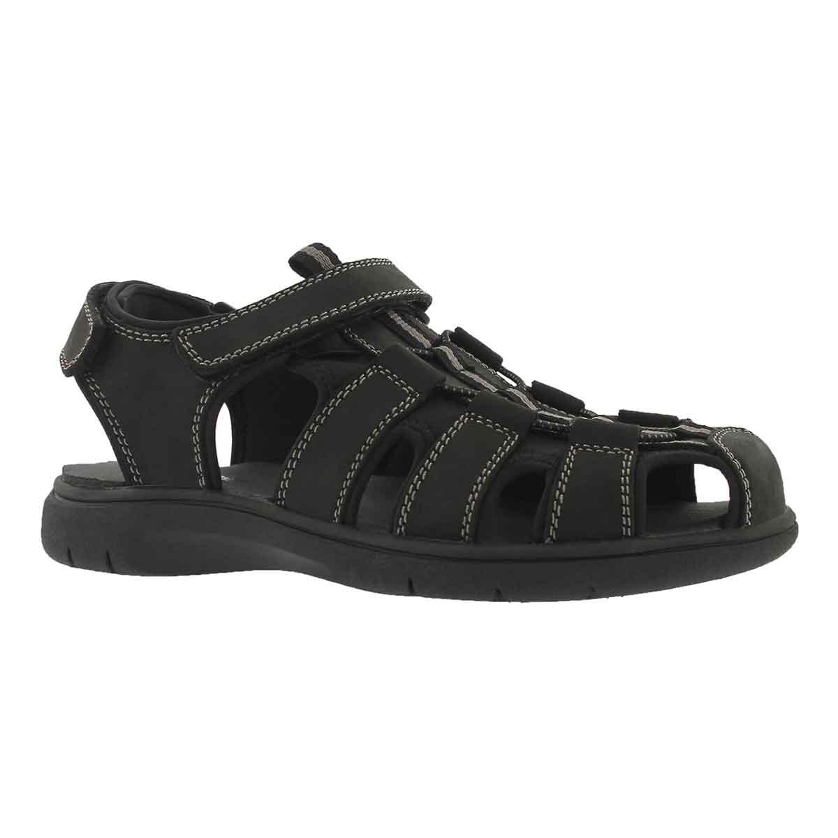 Men's LINUS black fisherman sandals