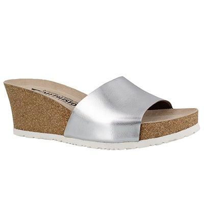 Lds Lise silver crk footbed wdg sandal