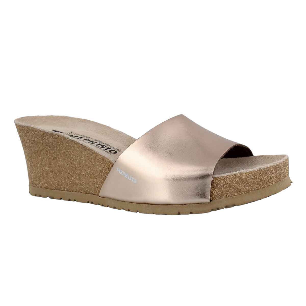 Women's LISE old pink cork footbed wedge sandals
