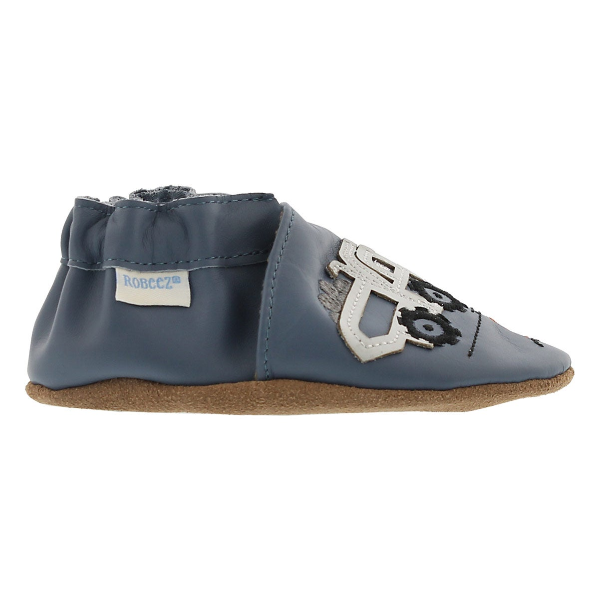 Inf Little Dump Truck blue slipper