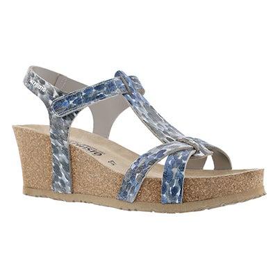 Lds Liviane light grey wedge sandal
