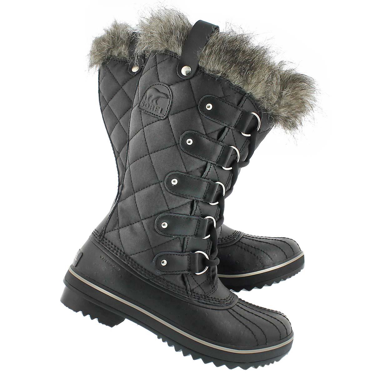 Sorel women s tofino cate black winter boots