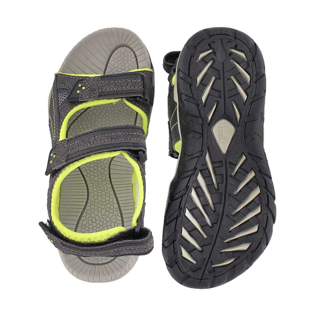 Bys Lobster blk/lim 3 strap sport sandal