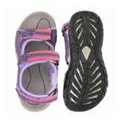 Grls Lobster purple 3 strap sport sandal