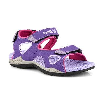 Grls Lobster 2 purple sport sandal