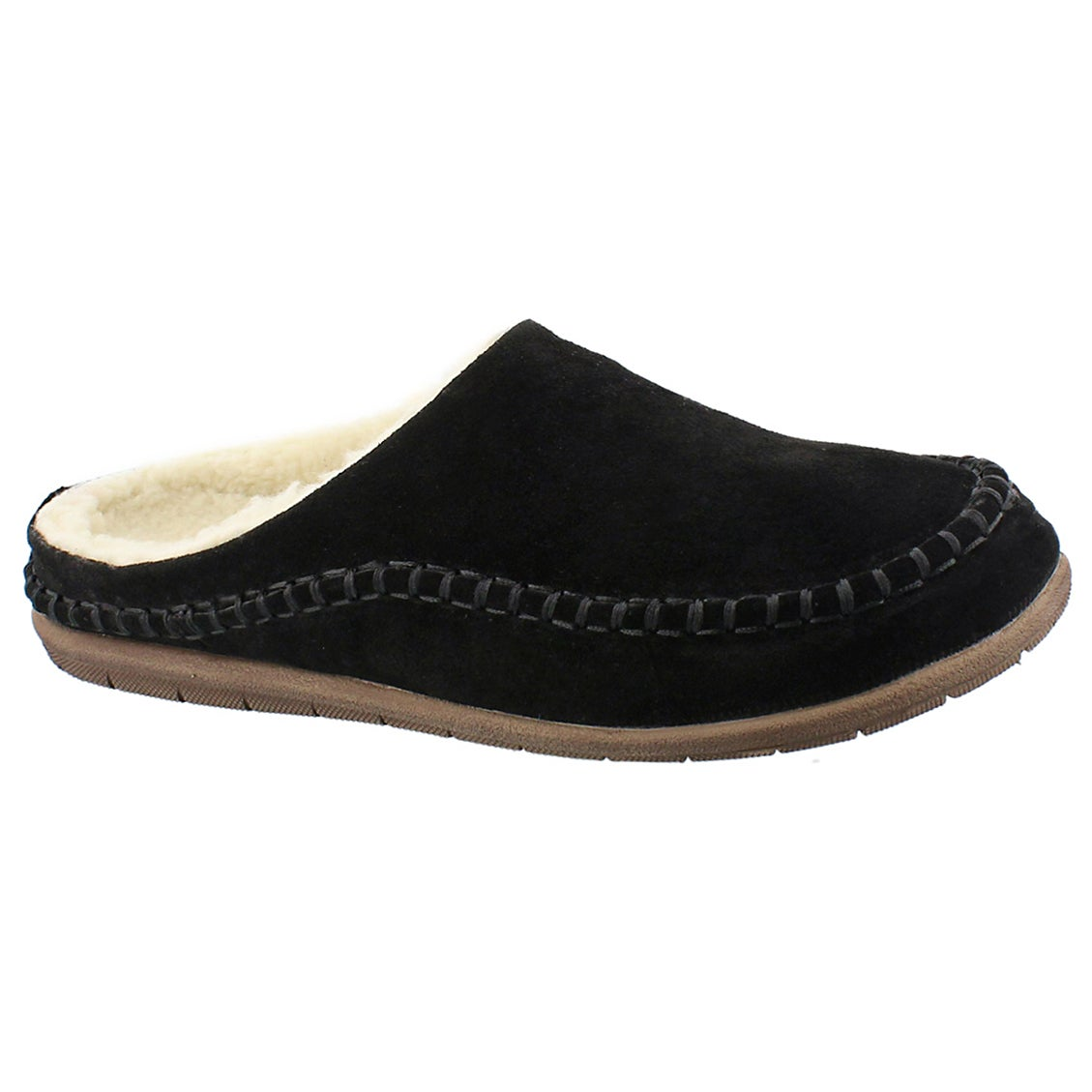 Mns Logan black open back slipper