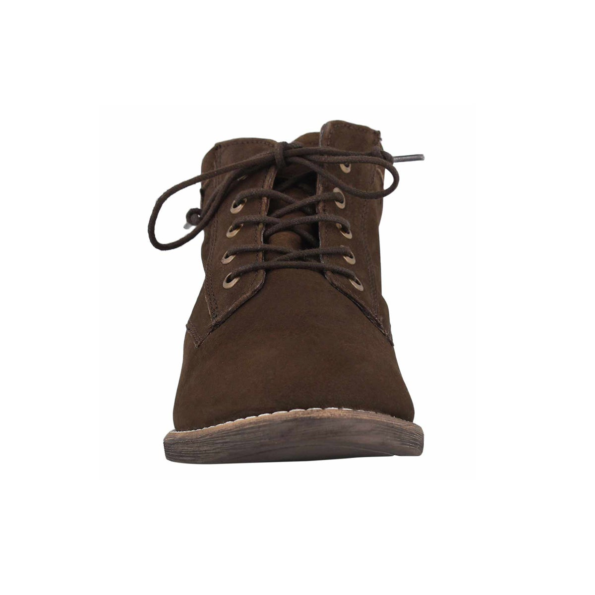 Lds Lois brown lace up booties