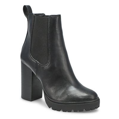 Lds Loopy blk slipon chelsea boot