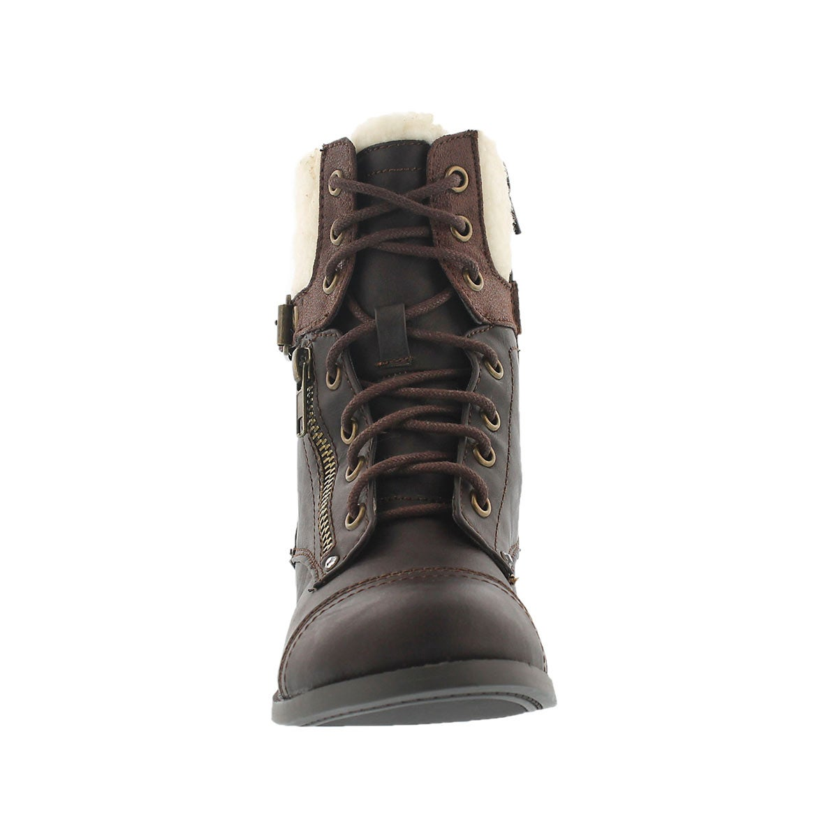 Grls Lori brown casual combat boot