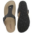 Lds Louisa black casual thong sandal