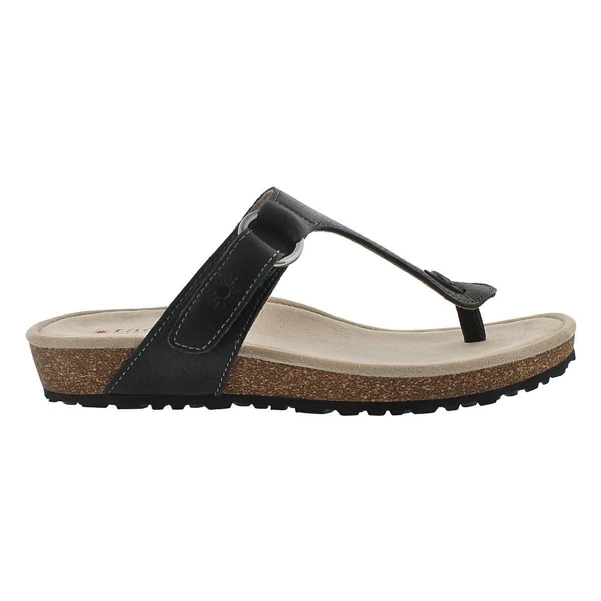 Sandale tong Louisa, noir, femmes