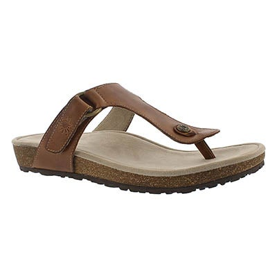 Lds Louisa tan casual thong sandal