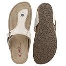 Lds Louisa white casual thong sandal