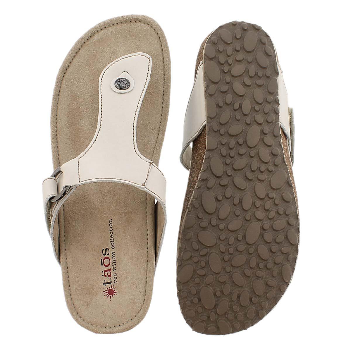 Sandale tong Louisa, blanc, femmes