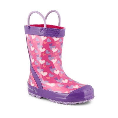 Grls Lovely pink rain boot