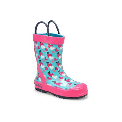 Botte de pluie Lovely, sarcelle, fille
