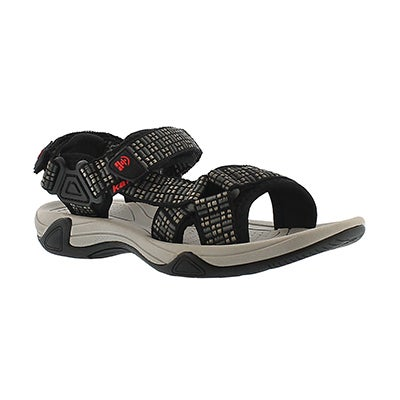 Bys Lowtide charcoal 3 strap sandal