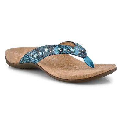 Lds Lucia aqua thong sandals