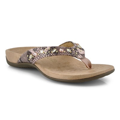 Lds Lucia camelia thong sandals