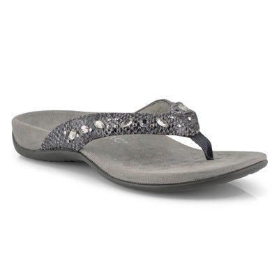 Lds Lucia slate thong sandals