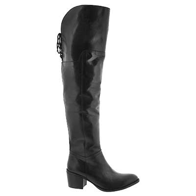 Lds Lucille black knee high dress boot