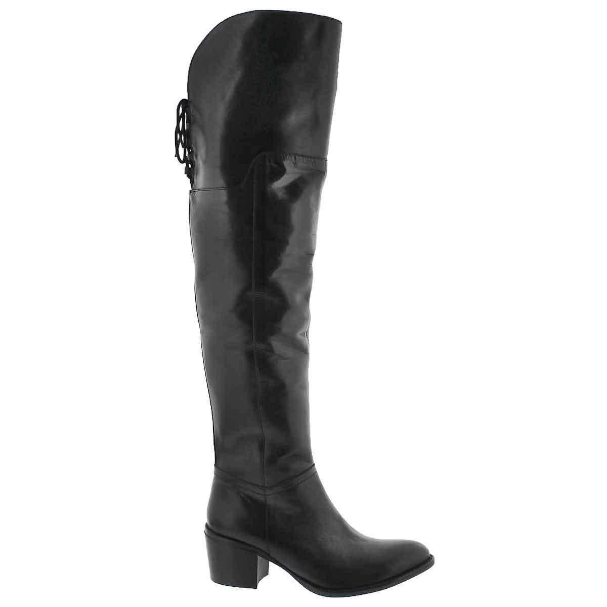 Lds Lucille black knee high dress boot