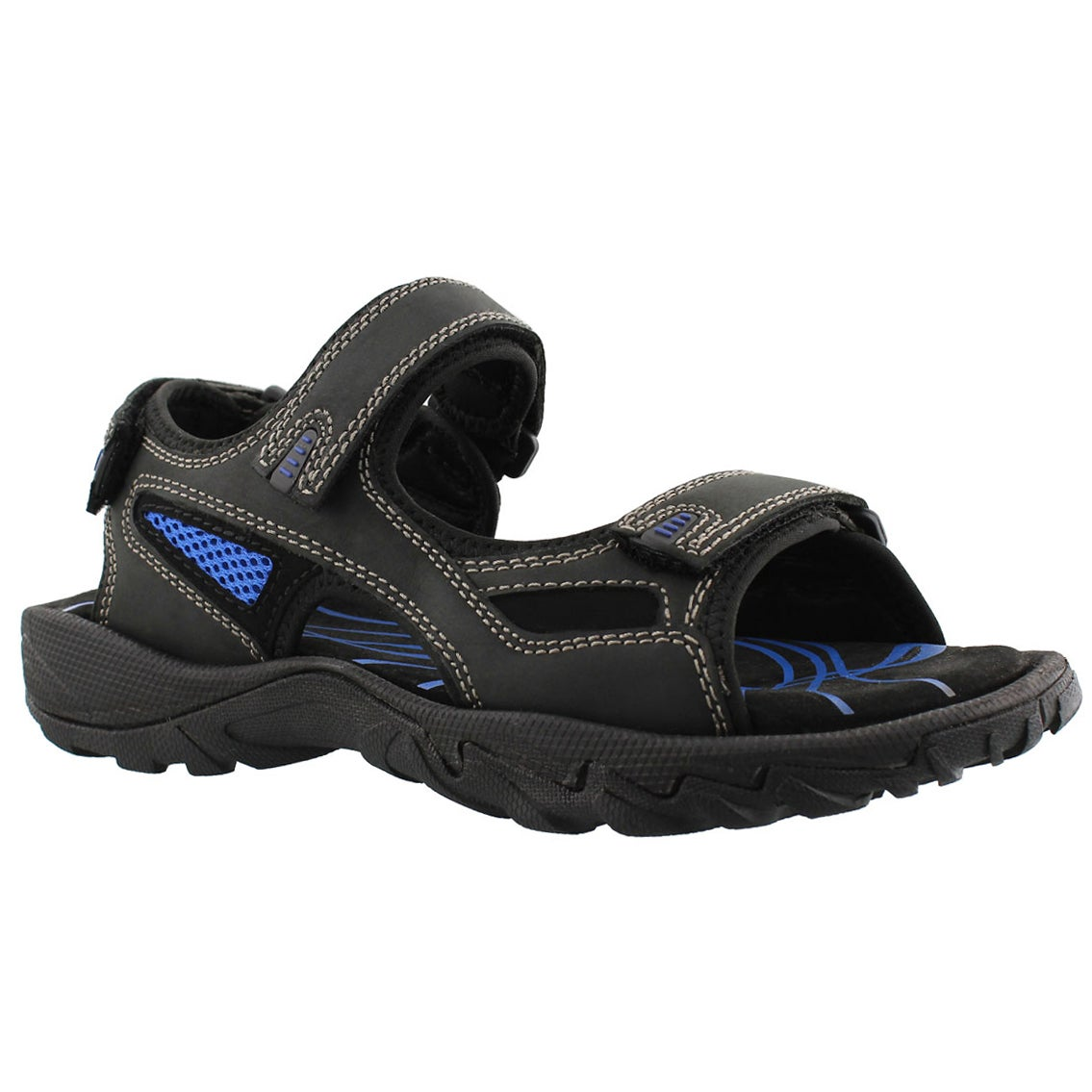 Men's LUCIUS black 3 strap sport sandals