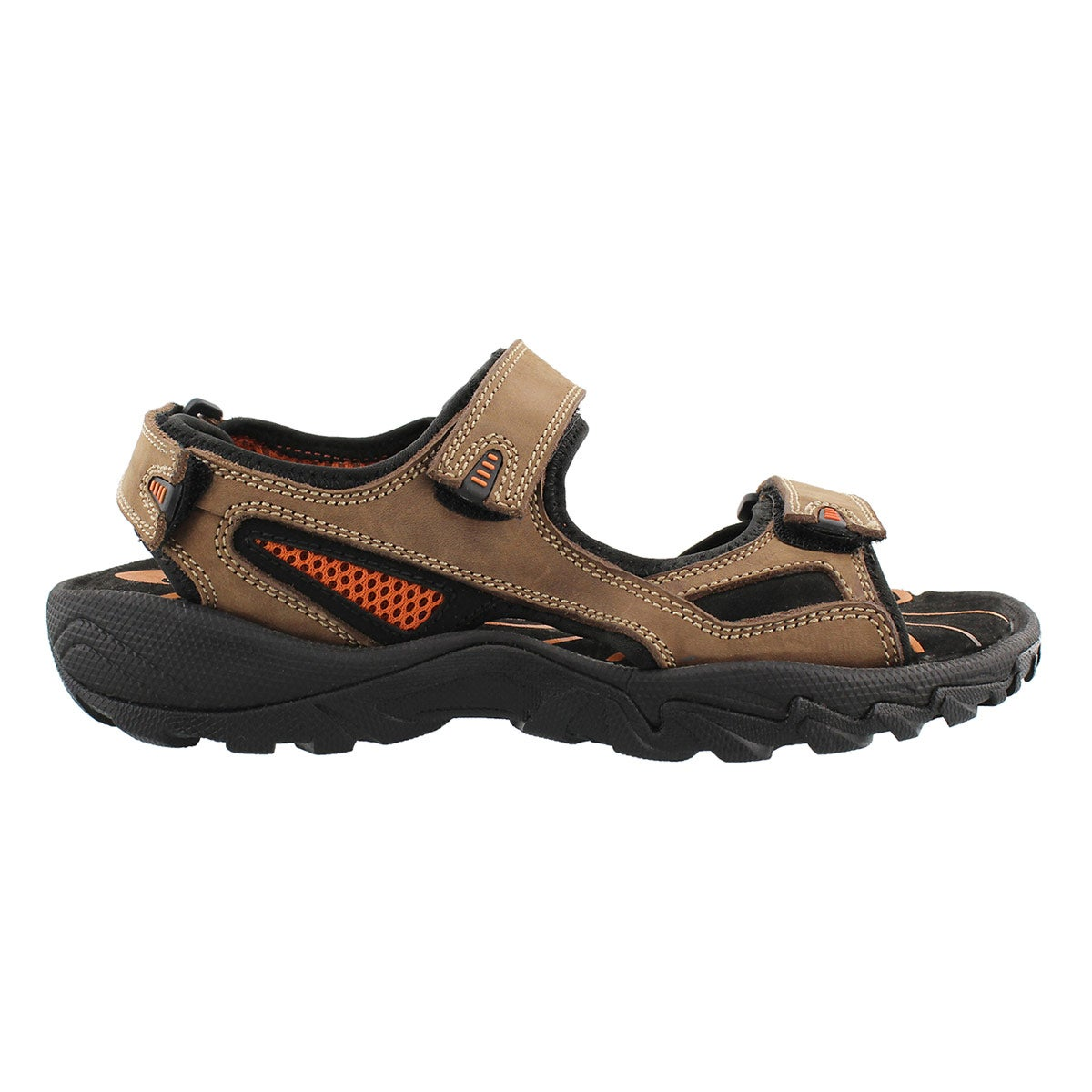 Mns Lucius brown 3 strap sandal