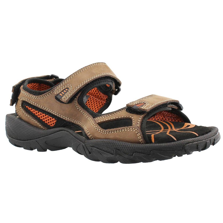 Men's LUCIUS brown 3 strap sport sandals