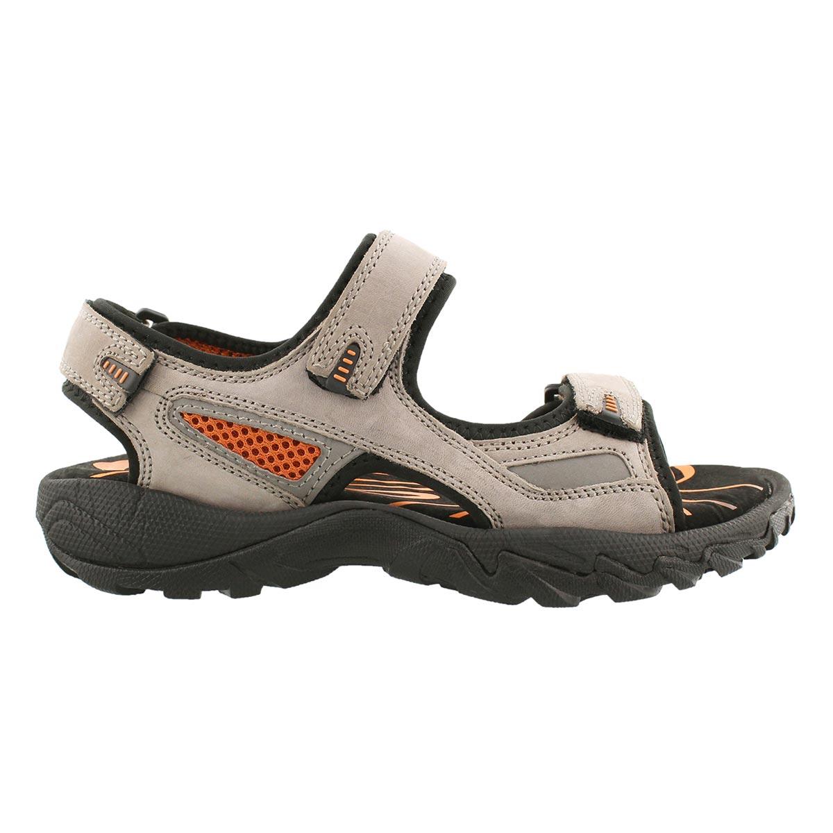 Mns Lucius grey 3 strap sandal