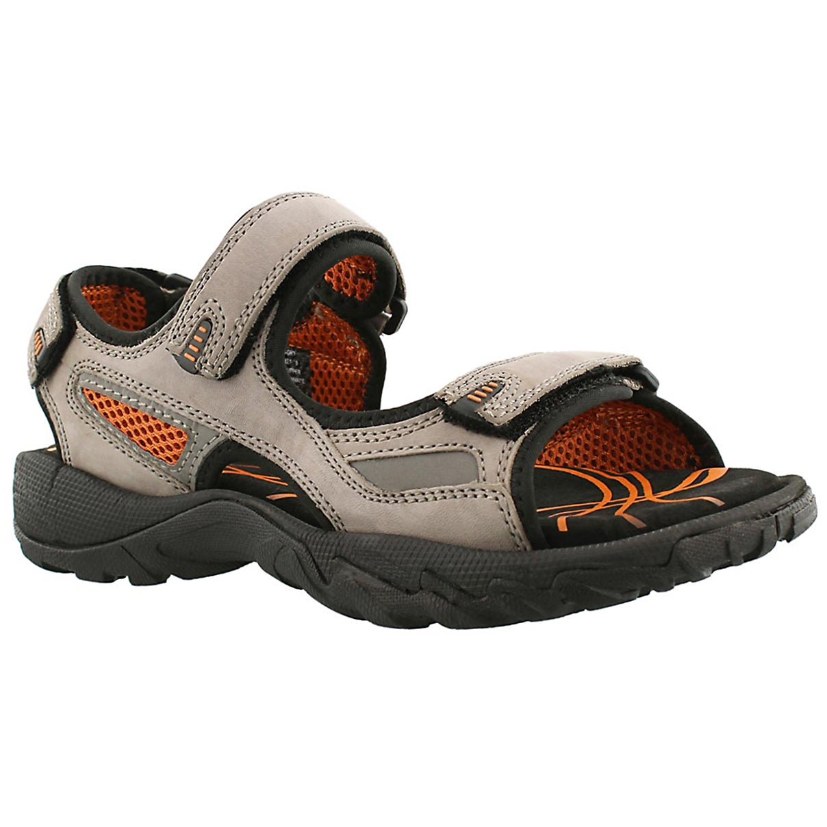 Men's LUCIUS grey 3 strap sport sandals