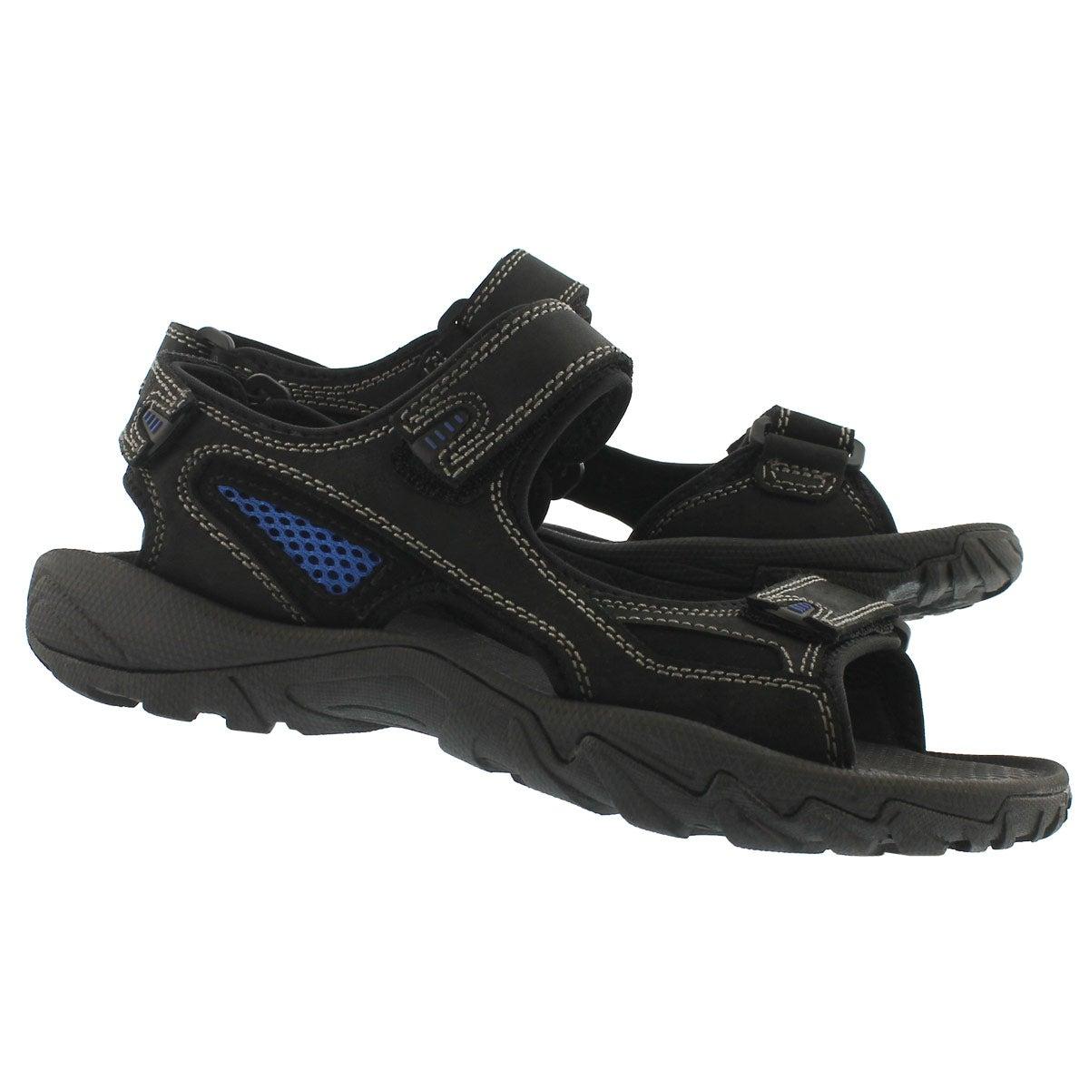 Mns Lucius 2 black 3 strap sandal