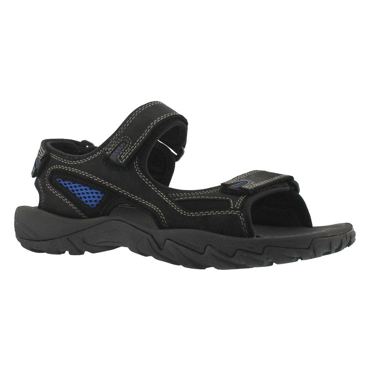 Men's LUCIUS 2 black 3 strap sandal