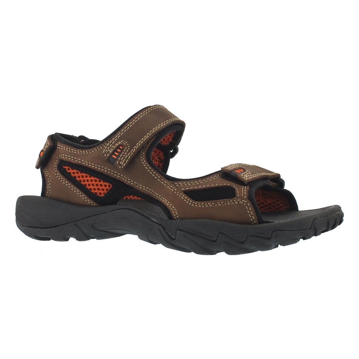 Men's LUCIUS 2 brown 3 strap sandal
