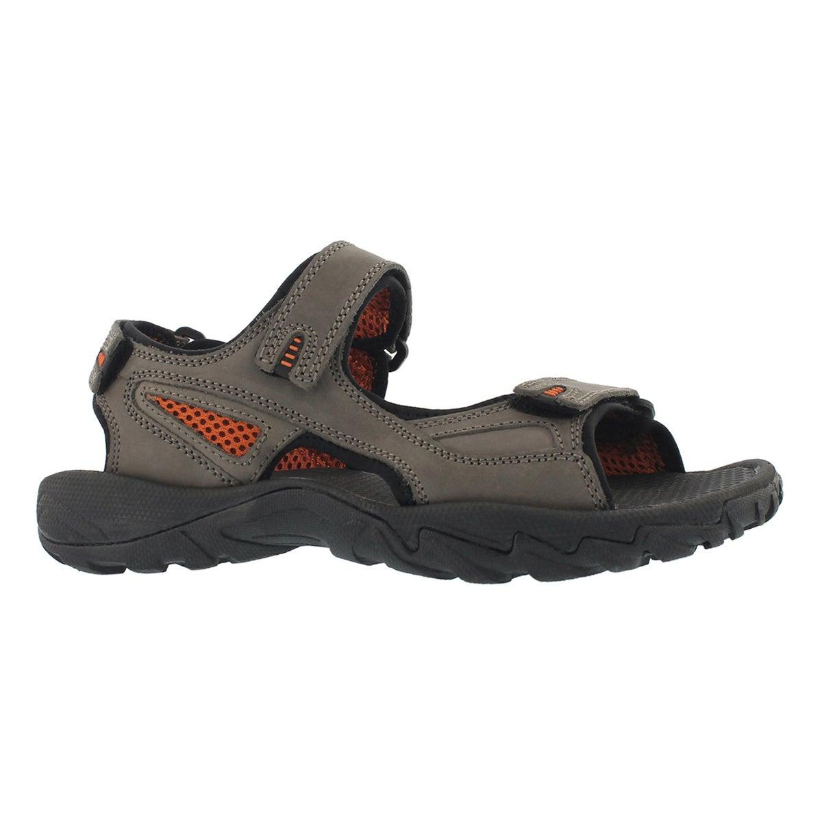 Men's LUCIUS 2 grey 3 strap sandal