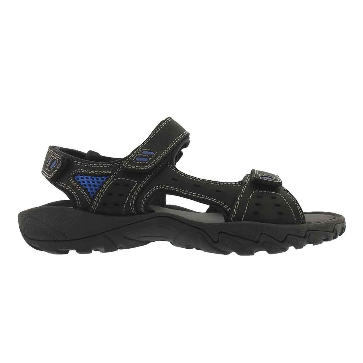 Mns Lucius 3 blk 3 strap sport sandal